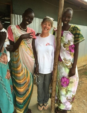 Jonquil Nicholl with Translators at Kule Refugee Camp, Ethiopia