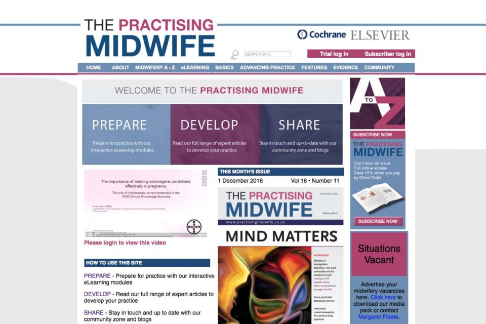 The Practising Midwife Website