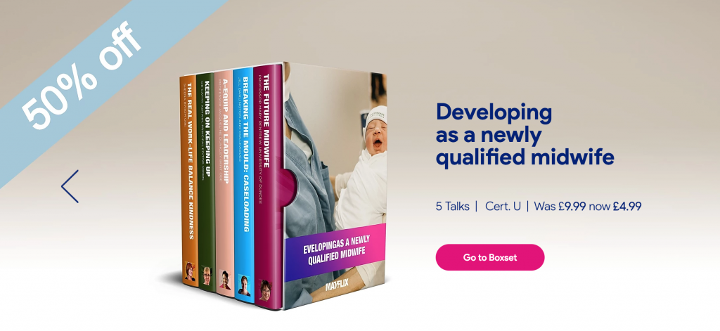 50% off today for newly qualified midwives